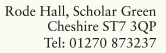 Rode Hall, Scholar Green, Cheshire, ST7 3QP